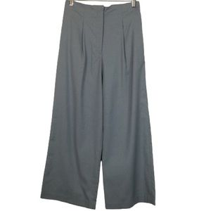 Sense of Place Wide Leg High Rise Trousers in Blue